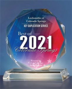 Locksmiths of Colorado Springs Receives 2021 Best of Colorado Springs Award